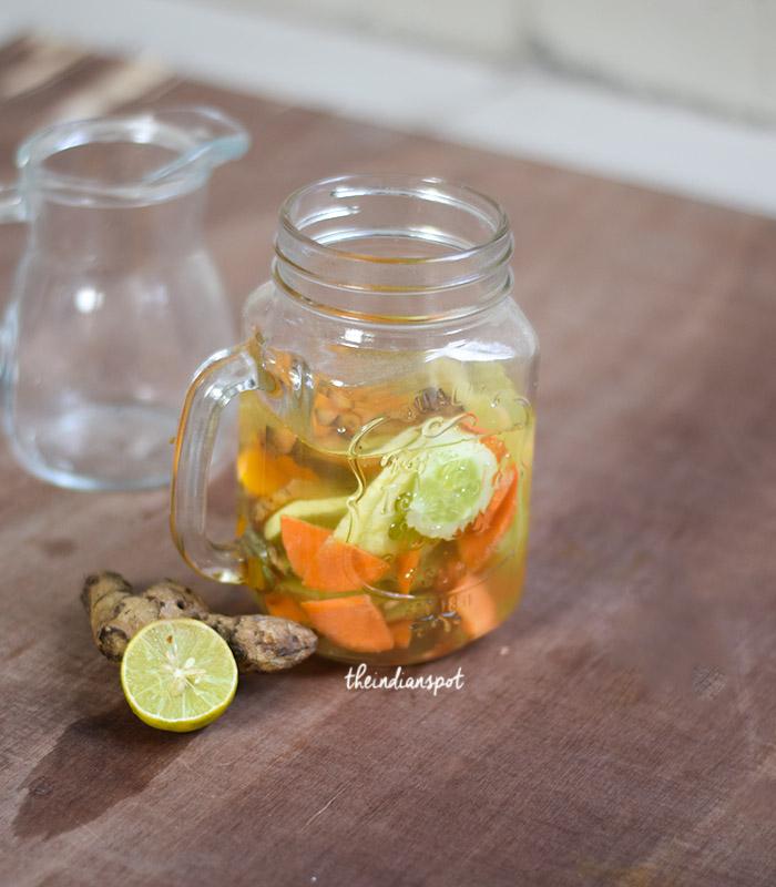 Coconut detox water for summer