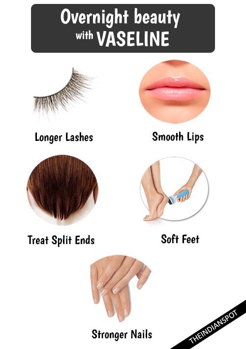 Amazing Overnight beauty tips with vaseline