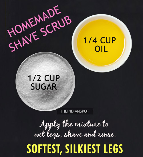 Diy Salt And Sugar Scrub For Silky Smooth Legs The Indian Spot
