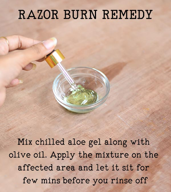 Razor Burn Remedy with aloe vera