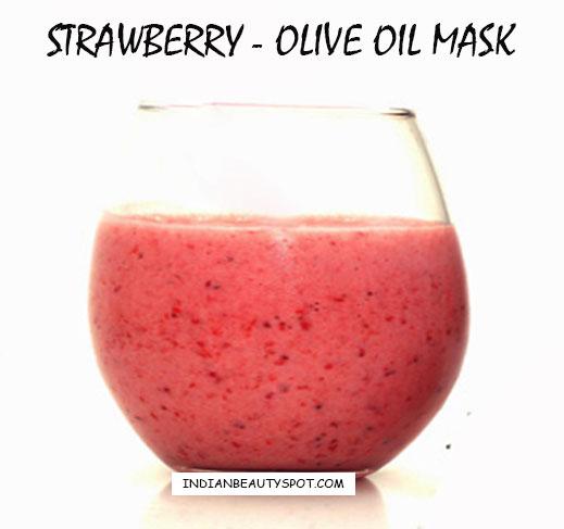 strawberry-olive oil mask