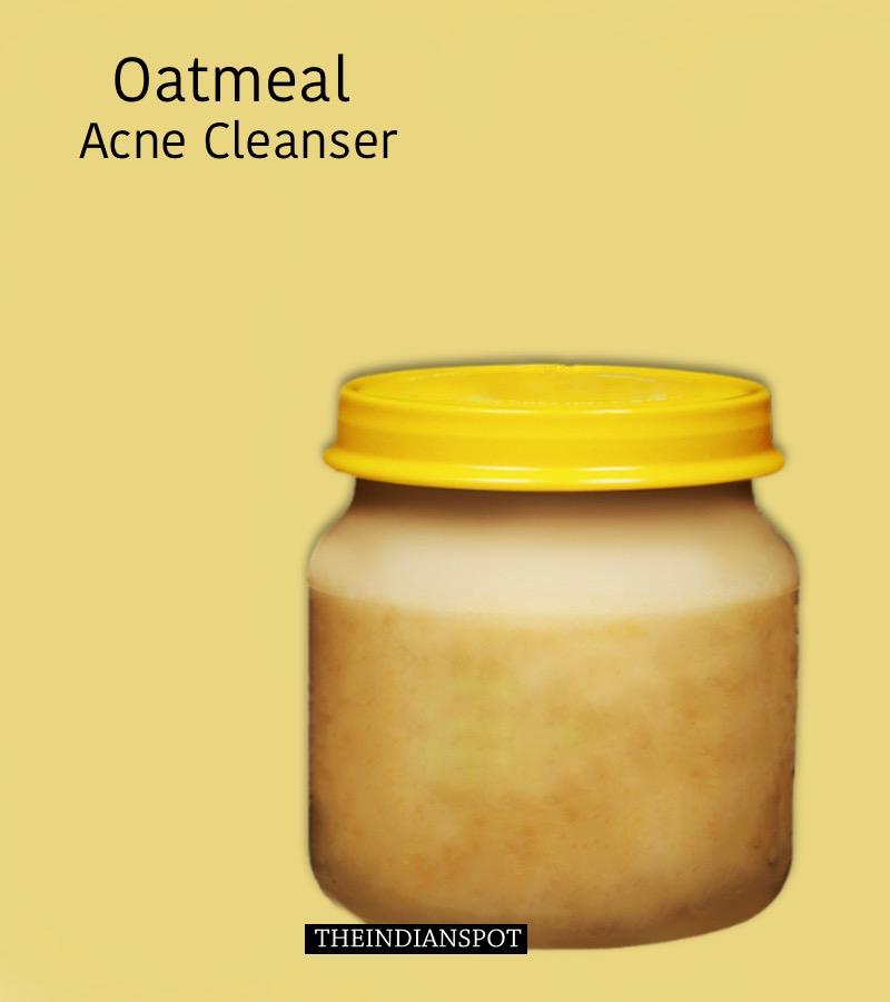 DIY OATMEAL ACNE CLEANSER