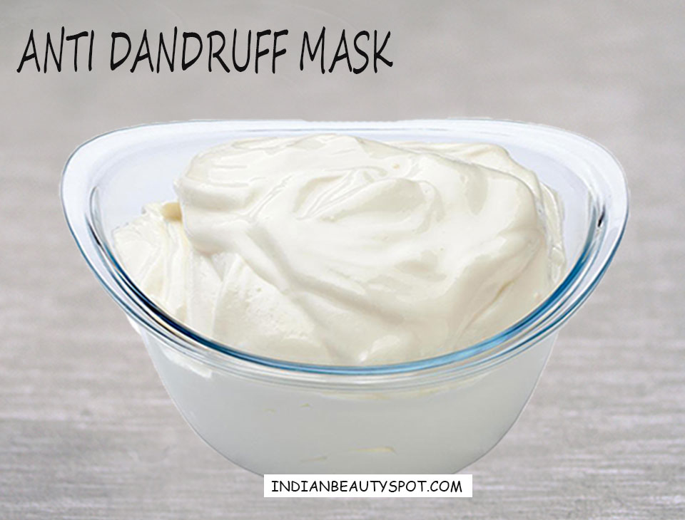 Natural treatments for hair with Anti Dandruff Mask