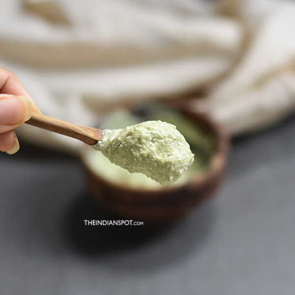 Green tea Face scrub to brighten and even out skin tone