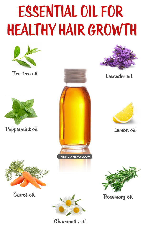Top Essential Oils For Healthy Hair Growth The Indian Spot