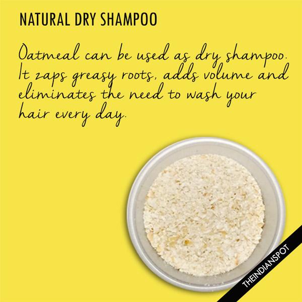 Oatmeal as Dry Shampoo:
