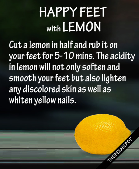 7. Helps to get rid of bad foot odor: