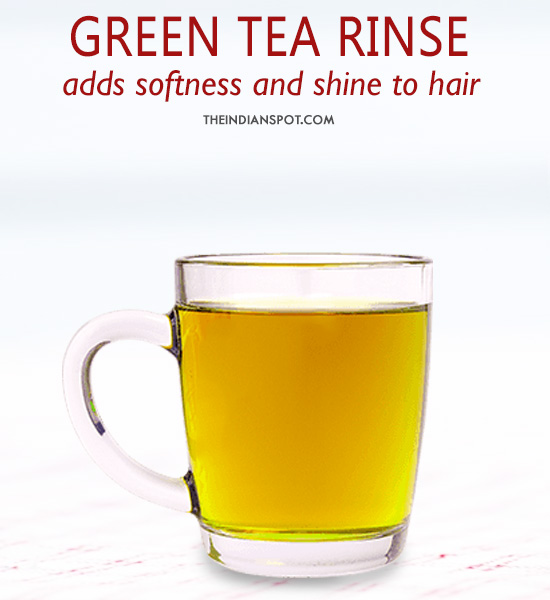 Green tea Hair Rinse - After shampoo conditioner