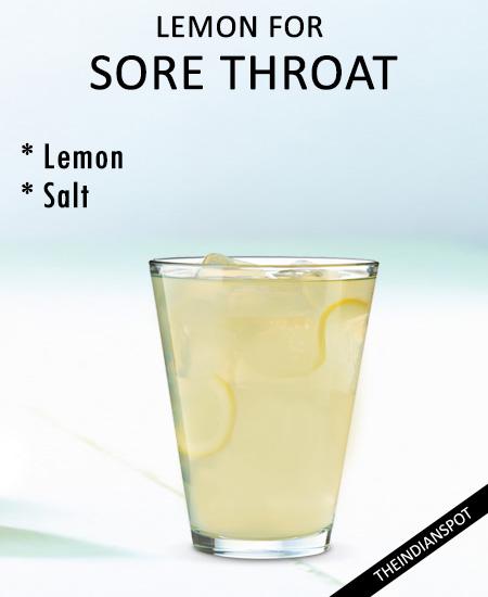 Lemon Remedy for Sore Throat