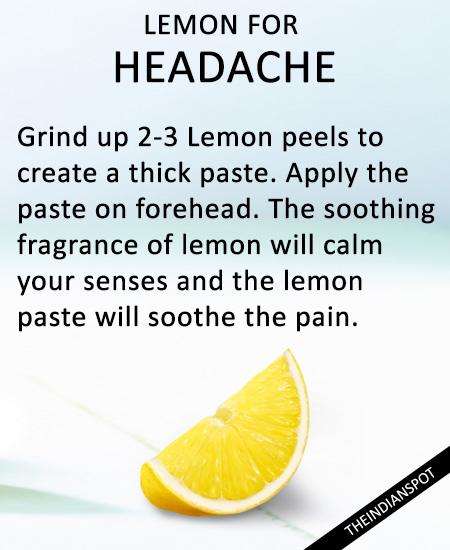 Lemon for Headache: