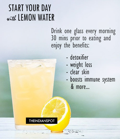 Benefits of lemon water – Start your day with lemon water