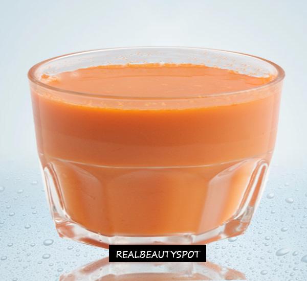 OILY SKIN FACIAL - papaya face mask