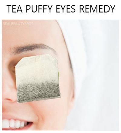 Reduce puffy eyes