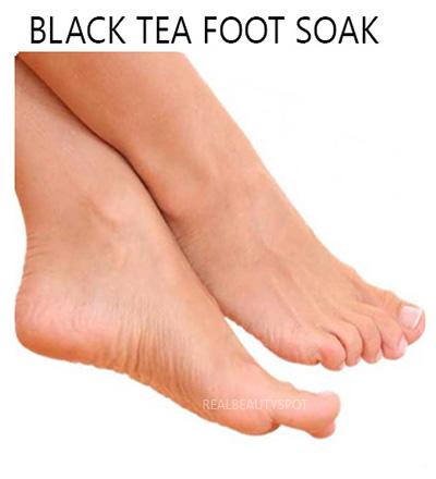 Food odor remedy with tea soak