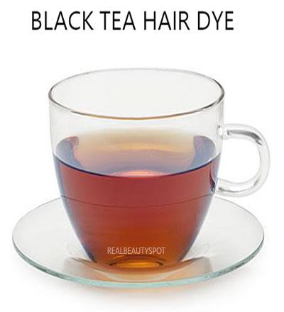 Black tea hair dye