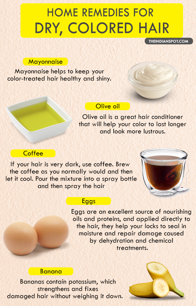 At Home Hair Remedies For Dry Color Treated Hair The