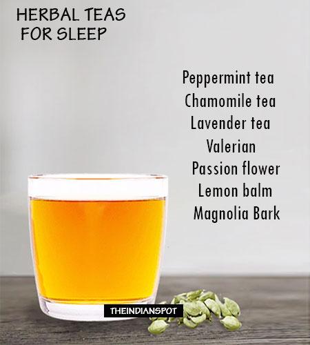 Herbal tea for sleeping