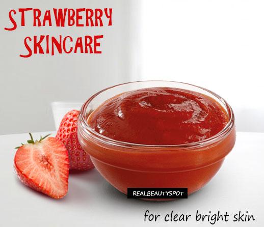 Amazing beauty tips using strawberry