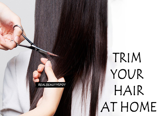 How To Trim Your Own Hair At Home The Indian Spot