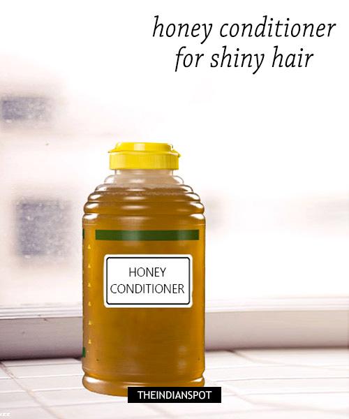 DIY Honey conditioner - shiny hair: