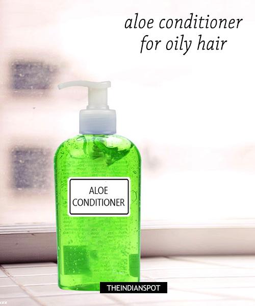 Natural Aloe vera Conditioner - Oily hair: