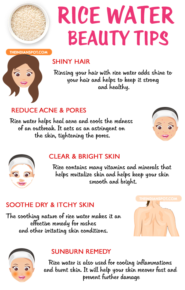 Rice water beauty tips