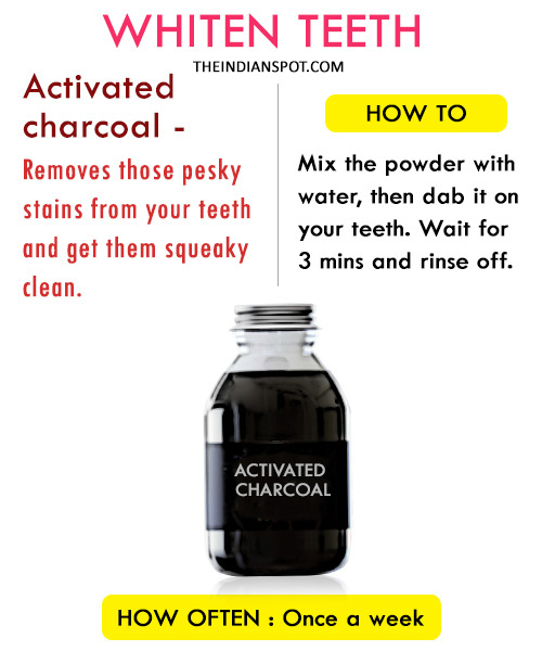 Whiten teeth with Activated Charcoal