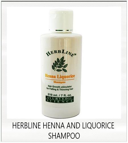 Herbline henna and liquorice shampoo