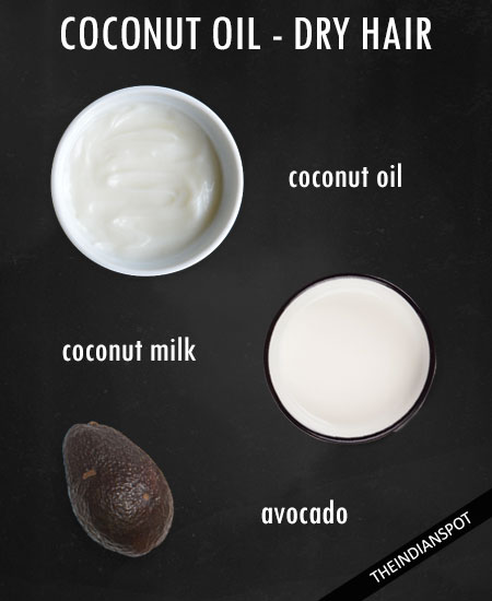 Coconut oil and avocado hair mask for nourishing the dry and frizzy hair -