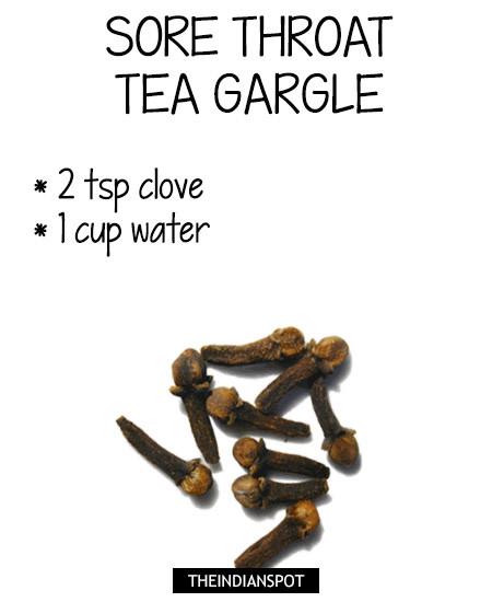 Clove tea recipe for sore throat