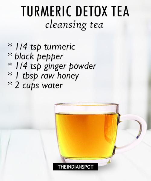 Cleansing Turmeric detox tea