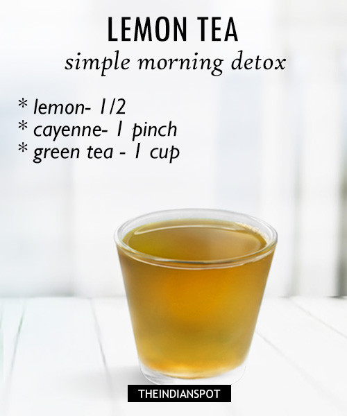 Simple detox tea with lemon
