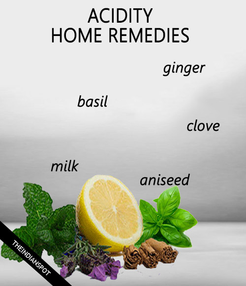 Fighting Acidity with home remedies