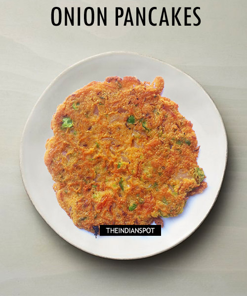Chickpea Flour Onion Pancakes Recipe