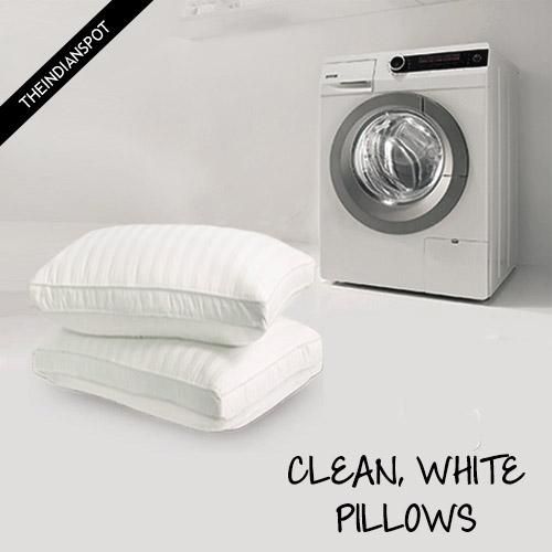 washing a pillow in the washing machine