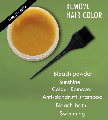 Ways to remove hair color easily | THE INDIAN SPOT