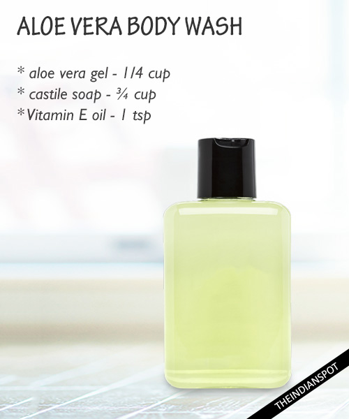 Nourishing aloe vera body wash: