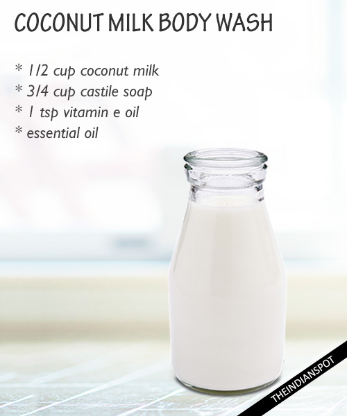 DIY Natural Coconut Milk Body Wash