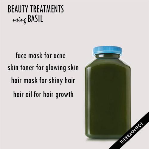 DIY beauty treatments using basil for skin and hair