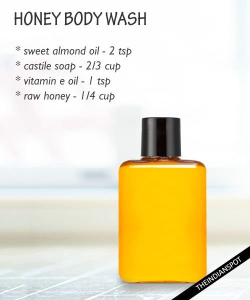 Softening honey body wash