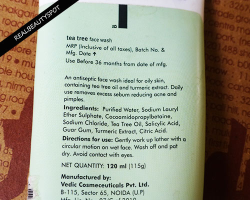 FABINDIA TEA TREE FACE WASH REVIEW, PRICE
