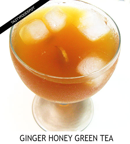 Reviving Iced Green Tea with Honey and Ginger