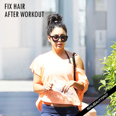 HOW TO FIX YOUR HAIR AFTER A WORKOUT