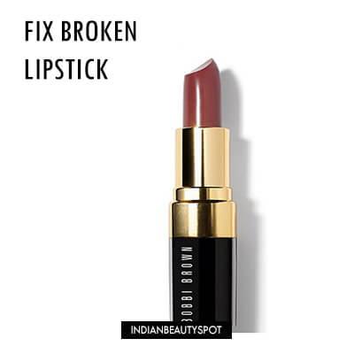 Fix dried and broken makeup easily - fix broken lipstick