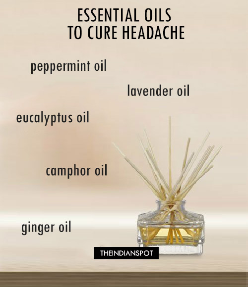 AROMATHERAPY AND LIST OF ESSENTIAL OILS TO CURE HEADACHE