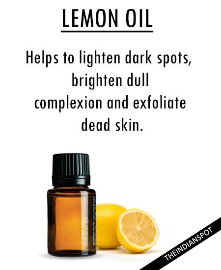 Best Essential Oils for skin - LEMON OIL