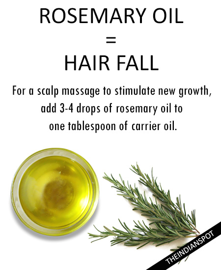 Hair loss - Rosemary essential oil