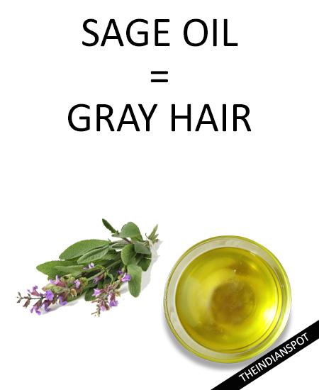Grey hair - Sage essential oil :