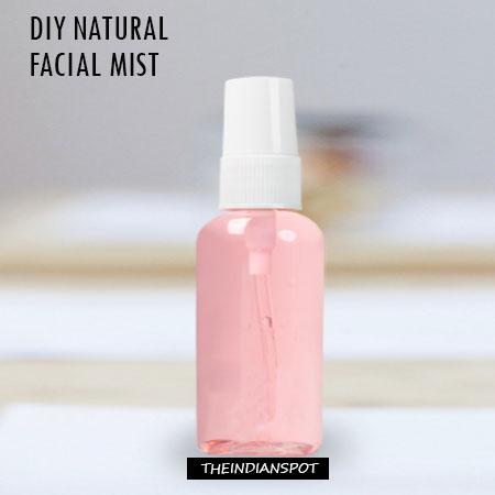 5 Natural Homemade facial mists