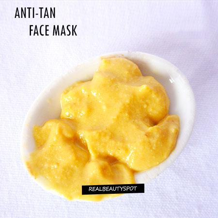 DIY ANTI-TAN FACE MASK